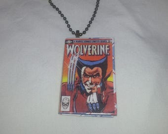 Mini Wolverine Comic Book Pendant