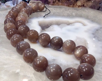 50% Mega Sale 14mm Chocolate Brown Moonstone Top Quality - One Of A Kind