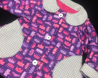 Reversible Crown Coat sizes 6 months to 4 years