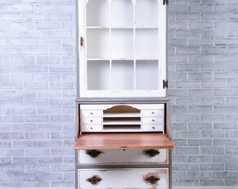 Antique White Secretary Desk