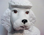 Vintage Poodle Figure Hollywood Regency Large Italian Poodle Dog Sculpture Made in Italy