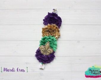 Baby headband or Planner band { Mardi Gras } green, gold, purple elastic plannerband, happy planner, filofax, kikkik, photography