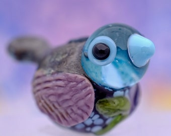 Eve.... lampwork bird bead.... sra