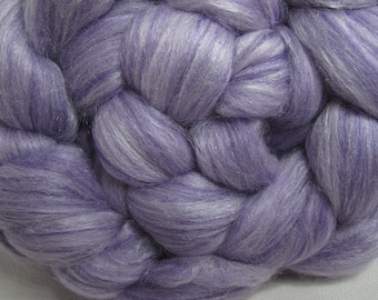 Sale Merino 18.5 Micron/Mulberry Silk/Firestar 60/20/20 Combed Top - 5oz - Lilac Mist Shimmer