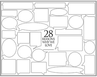 Personalized Birthday Present – 28 Reasons We Love You – Template for Print or Editing – Photoshop Template – 28th Birthday
