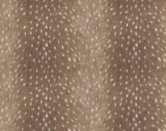 Faux Fur Fabric - Soft Deer Hide Fabric In Taupe By Willowlanetextiles - Cotton & Upholstery Fabric By The Yard With Spoonflower