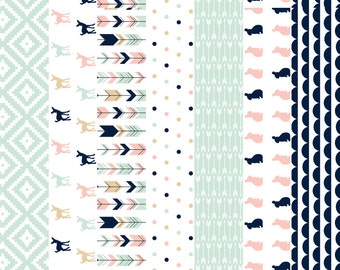 Cheater Quilt Fabric - Briar Woods V2 // 1 Yard Cut By Littlearrowdesign - Wholecloth Cotton Fabric By The Yard With Spoonflower