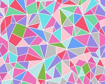 Geomtric Crystal Fabric - Mosaic Crystal By Emmaallardsmith - Crystal Cotton Fabric By The Yard With Spoonflower