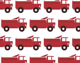 Toy Firetruck Fabric - Toy Firetrucks By Sunshineandspoons - Red Toy Truck Nursery Decor Cotton Fabric By The Yard With Spoonflower
