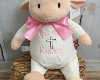 Communion Boy Keepsake Personalized, Personalized Plush Lamb, communion gift , Personalized God Bless gift , plush lamb gift, easter gift