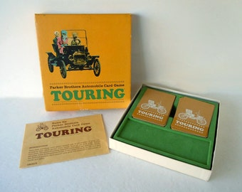 Vintage 1965 Card Game Parker Brothers Touring Automobile Car Card Game