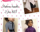 "MissPrettyPerfect's PDF Sewing Pattern Bundle - First Lady Series, American Girl, 18"" Doll Clothes"