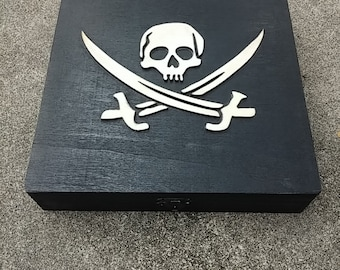 Pirate's Booty Puzzle. Fit the coins into the chest to win!