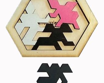 Entangled Elephants 4 piece puzzle. Easy/Medium level