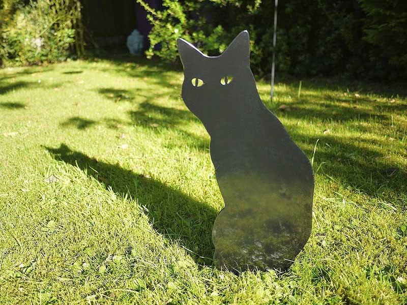 Wow Cat for your flowerbed or fence top