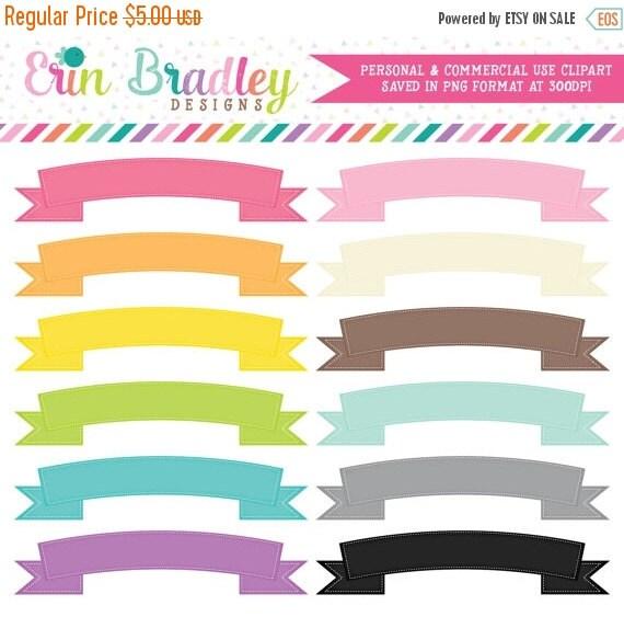 60% OFF SALE Digital Scrapbook Clipart Graphics Ribbon Banner Frames Instant Download Commercial Use Clip Art