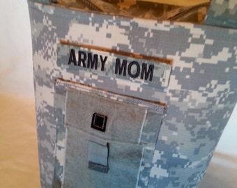 Personalized ACU Handbag - gift for mom - Army mom purse - Army wife handmade bag - gift for her - gift for sister - custom Army handbag