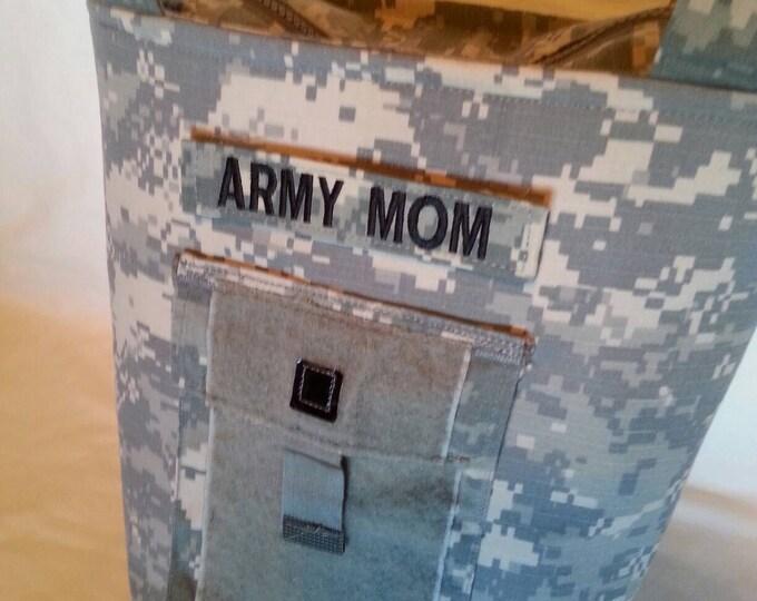 Army Mom purse Personalized ACU Handbag - gift for mom - Army wife handmade bag - gift for her - gift for sister - custom Army handbag
