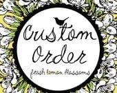 Kristen Custom Order 5 inch Letter Banner with Cactus