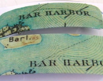 Bar Harbor Maine MDI Map Barrette