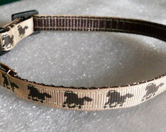 Galloping Horses Cat Collar, Kitten Collar, Breakaway Collar - girl cat, boy cat, Horses