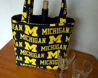 University of Michigan 3 Pocket Bag For Winery Hopping, Soccer, Baseball, Lacrosse, Crafts and the Beach