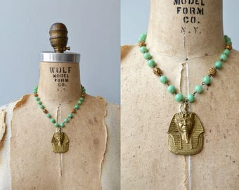 Great Sphinx of Giza necklace | vintage 1920s necklace | Egyptian revival 20s necklace