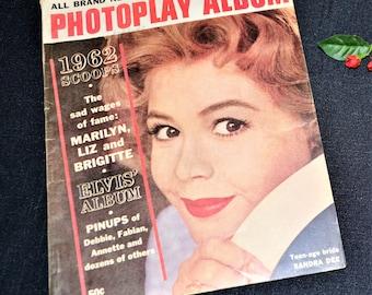 Vintage Photoplay Album 1962 Movie Stars Galore