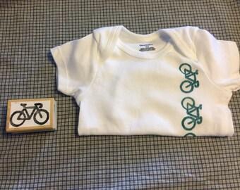 Bicycle - Short Sleeve Baby Onesie