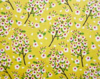 Floral Print Fabric - Cotton Fabric - Tiny Wildflowers - Half Yard