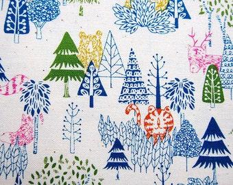 Animal Print Fabric - Cotton Fabric - Animal Woodland Party - Half Yard