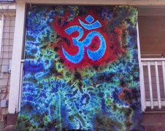 OM Dreaming - Tie Dye Duvet Cover Set with pillow cases - choose size