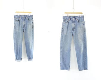 Vintage Levis 550 90s High Waist Jeans 90s Faded Mom Jeans Levis Tapered Leg 90s High Waist Levis 90s Boyfriend Jeans Size 33 / 30