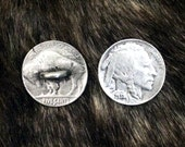 Indian Head Nickel Coin Pewter Shank Buttons | Historic Buttons | Coin Buttons | 3/4 Inch (19 mm) | by Treasure Cast Pewter