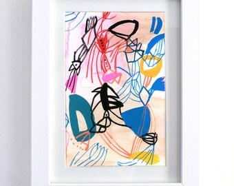 "Birds of Paradise - original 6"" x 8"" watercolor painting"