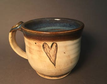 Raw heart mug