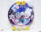 Kamio Japan Sticker Flakes - Secret Rabbit - 50 Pieces (46542)