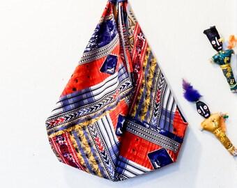 Market Bag, Tote Bag, Bento Bag, Fabric Bag, Shopping Bag, Book Bag, Travel Bag, Boho Bag, Vintage Fabric Bag, Gift for her, Mother Day Gift