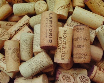 100 Natural Used Wine Corks Recycled Wine Craft Supply Wedding Crafts