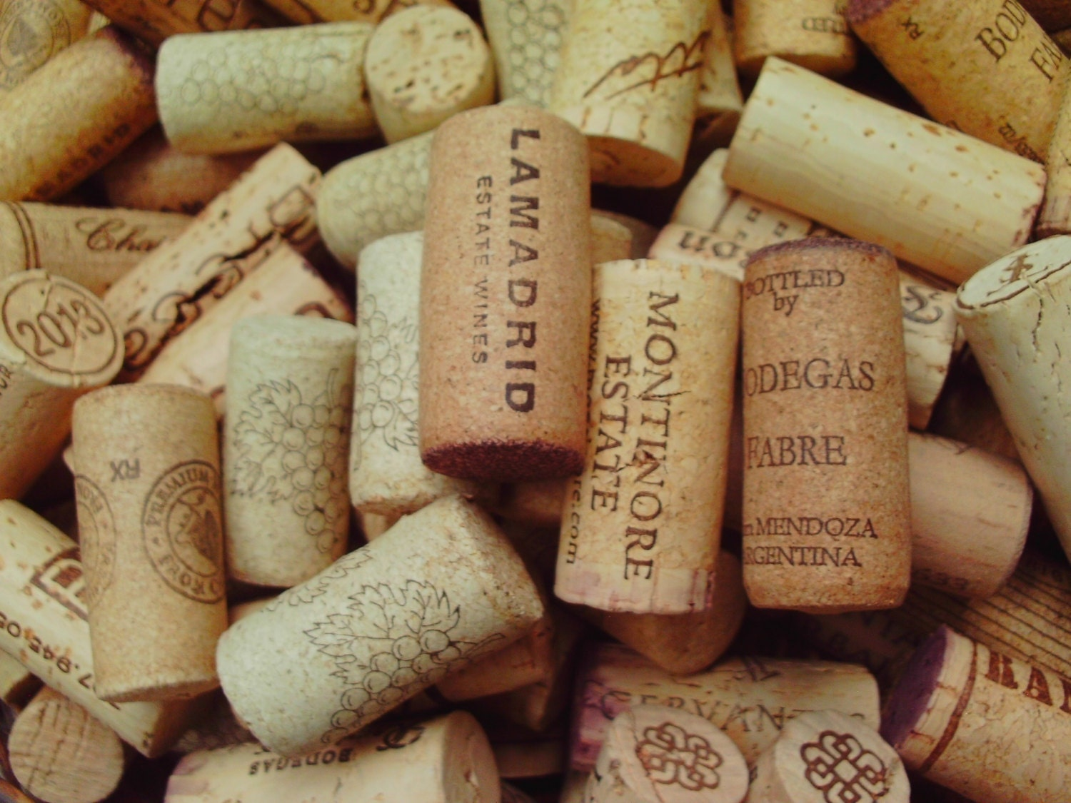 100 natural used wine corks recycled wine craft supply for Wedding craft supplies