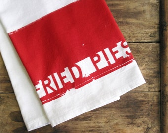 Southern Gifts Cotton Flour Sack Towel Red Kitchen Dishcloth Rustic Housewarming Gifts under 10 Dollars Nashville Tennessee