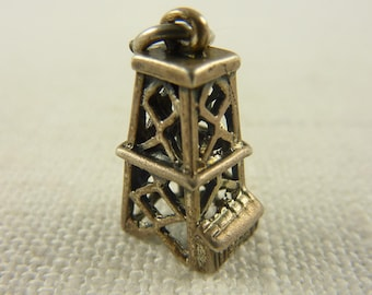 Vintage Danecraft Sterling Silver Tower Charm