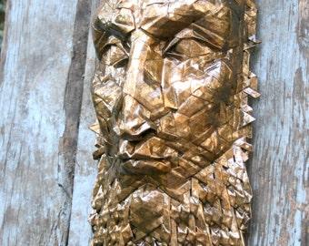 Aethelred - Golden origami mask