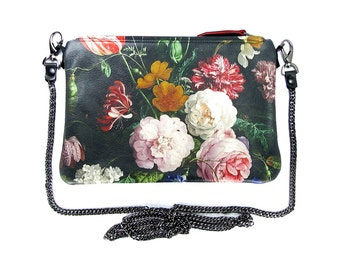 Leather Clutch Bag / Purse / Handbag / Zip Bag - Dutch Spring