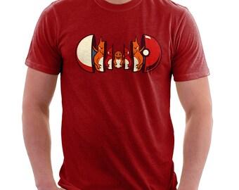 Poketryoshka Fire Type Shirt  - Pokemon Shirt | T-shirt for Women Men | Videogame T-shirt