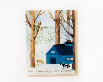 Spring Farm Beginnings Card