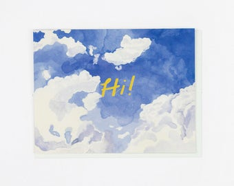 Hi Afternoon Sky Card