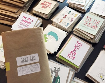GRAB BAG - 10 cards // slightly imperfect or discontinued designs