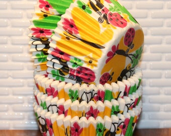 Butterfly Garden Cupcake Liners (Qty 32)  Butterfly Baking Cups, Cupcake Liners, Baking Cups, Muffin Cups, Novelty Baking Cups