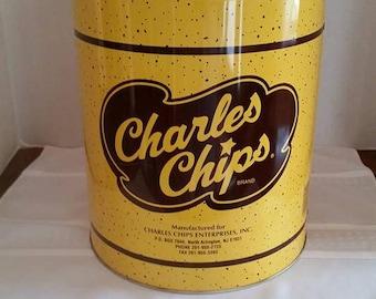 Vintage 1 Lb. Charles Chips Canister